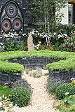 The Katherine Parr garden, designed by Yvonne Mathews, it was awarded a Silver medal. As part of the Six Wives of Henry VIII show gardens at the 2009 Hampton Court Palace Flower Show. It was a 'Mary' garden, a garden where each plant has a connection to the Virgin Mary.