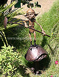 David Goode goblin statue from 2009 Hampton Court Palace Flower Show. David Goode's website